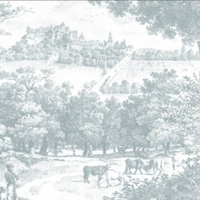 Parkansicht mit Schloss im Hintergrund von 1800. (Archiv)